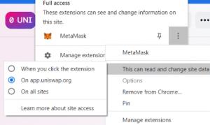 metamask permissions
