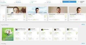 eToro review social trading
