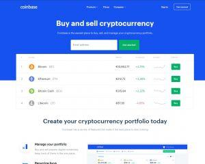 Coinbase review - homepage