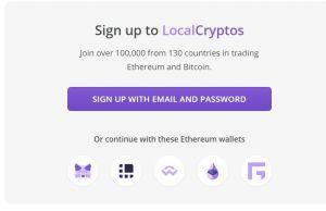LocalCryptos sign up