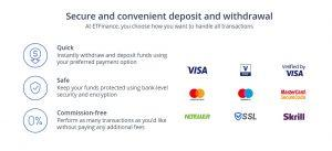 ETFinance review deposits and withdrawals