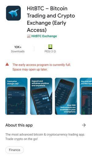 HitBTC mobile app