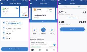 Kriptomat mobile app
