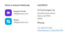 Xcoins support