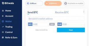 Bitwala digital wallet