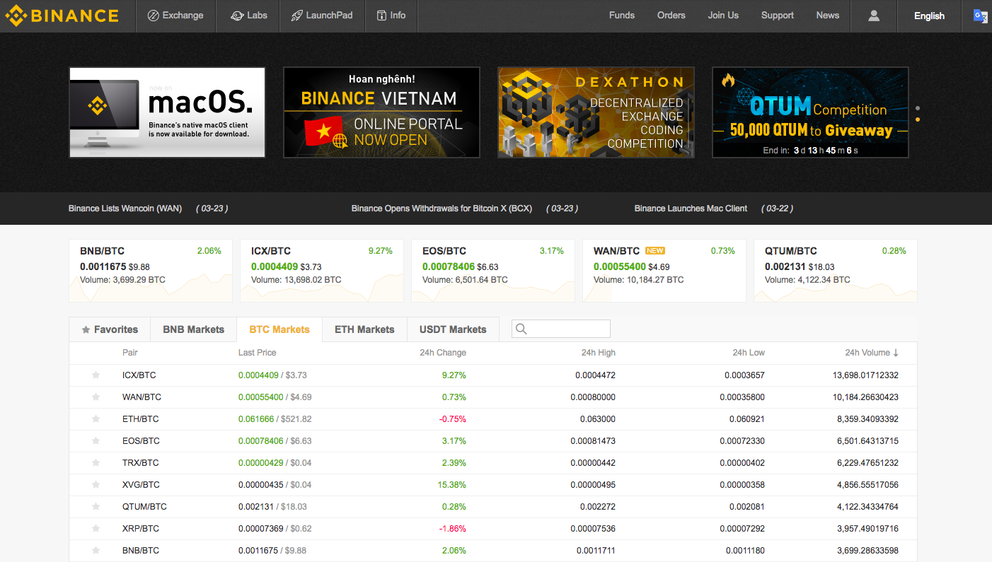 how to purchase cryptocurrency on binance