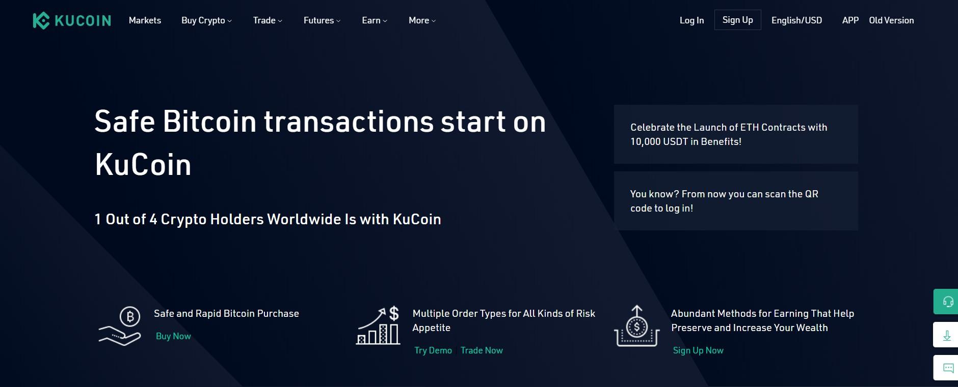 Kucoincom-Anleitung: ETH, BCC oder LTC kaufen und handeln
