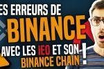 Les erreurs de Binance, IEO et Binance DEX !
