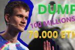ETHEREUM : DUMP de 70.000 ETH 100 MILLIONS par VITALIK BUTERIN ?!!