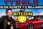 BITCOIN 🚀 TESLA ACHÈTE 1 MILLIARD ET DEMI CASH ! APPLE LE SUIVANT ?!