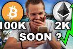 BITCOIN les 100K PLUS VITE que PRÉVU !! ETHEREUM 2000$ TODAY