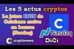 Les 5 actus cryptos de la semaine: Coinbase, Bitcoin, Ethereum, Time Magazine, Grayscale